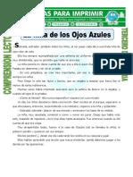 Ficha La Niña de Los Ojos Azules Para Tercero de Primaria
