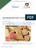 Masas Para Manualidades Caseras_ 12 Recetas Fáciles - Diario Artesanal