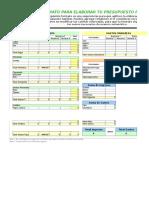 Presupuesto Familiar Excel.