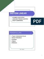 Kuliah 1 Sistem Linear