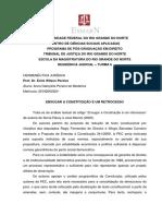 Enxugar a Constituição é Um Retrocesso - Anna Gabryella Pereira de Medeiros