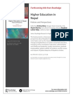 Higher Education in Nepal Policies and Perspectives