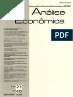 análise economica