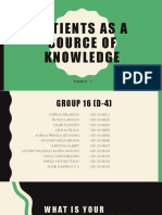 Bhp Tutor 16 - Patients as a Source of Knowledge