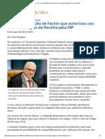 ConJur - STF Cassa Decisão Que Autorizou Uso de Dados Ilegais Do Fisco Pelo MP