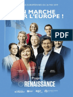 Programme de la liste Renaissance pour les élections européennes
