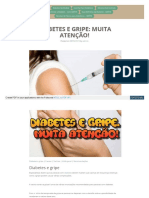 Diabetes e Gripe Muita Atenção
