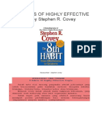 8th HABITS OF HIGHLY EFFECTIVE PEOPLE by Stephen R.docx