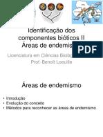 Aula sobre áreas de endemismo