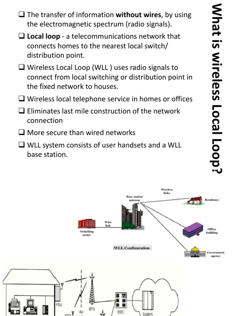 [FPWZ_2684]  Wireless Local Loop | Cellular Network | Wireless | Wireless Local Loop Diagram |  | Scribd