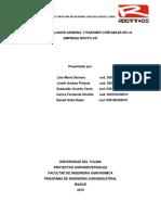 Inventario Balance General y Razones Con