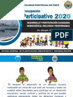 DESARROLLO Y PARTICIPACIÓN CIUDADANA INCLUSIVA Y RESPONSABLE  - MPP 2020.ppt