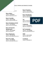 Bancos Públicos y Privados Que Operan en El Salvador - Historia de La Banca Como Linea de Tiempo