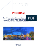 "Program and Abstracts - 3rd International Neuroscience and Biological Psychiatry ISBS Symposium ""TRANSLATIONAL BIOLOGICAL PSYCHIATRY"", May 23, 2019, Kyiv, Ukraine"