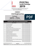 Postal study package CE GATE