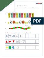 Guía para primer año básico de secuencias y patrones