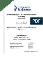 Álgebra Lineal en Ingeniería Mecánica