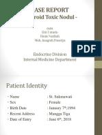 Case Report of Thyroid Toxic Nodule