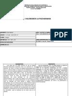 Valoramos La Pachamama 4to Proyecto