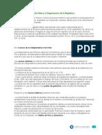 Independencia y Organizacion de La Republica