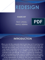 Job design and redesign