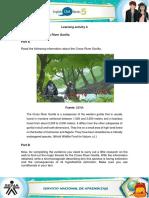 Evidence Cross River Gorilla