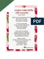 Poesia Al Dia de La Madre