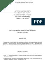 Plan de Estudios Iesa 2016. Matemáticas