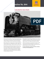 Union Pacific Living Legend Number 844 Fact Sheet