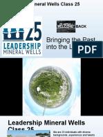 Leadership Mineral Wells Class 25