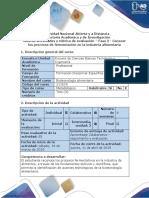 Guia de Actividades y Rubrica de Evaluación - Fase 2 - Conocer Los Procesos de Fermentación en La Industria Alimentaria