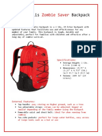 The Borealis Zombie Saver Backpack