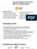 Material Management of Gsfc University Laboratory