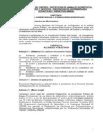 Reglamento de zoonosis