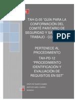 Tah-g-05 Guía Para La Conformación Del Comité Paritario de Seguridad y Salud en El Trabajo - Copasst-V1.0
