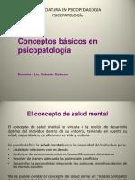 1- Diapositivas - Conceptos Basico en Psicopatologia