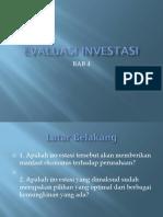 Bab 4. Evaluasi Investasi