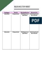 Problem Solution Sheet