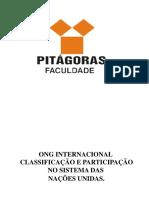 Ong Internacional Classificação e Participação No Sistema Das