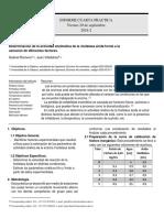 Determinación de la actividad enzimática de la fosfatasa ácida frente a la variación de diferentes factores