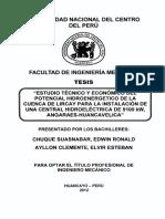 ESTUDIO TECNICO Y ECONOMICO DEL POT HIDROENERG DE LIRCAY PARA UNA CH DE 9100KW.pdf