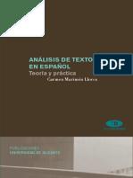 Análisis de textos en español