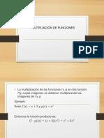 Multiplicación de Funciones
