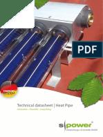 S Power Heat Pipe Data Sheet