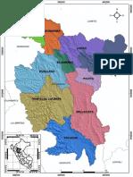 San Martín - Ubicación Provincias