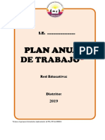 Estructura Del Plan Anual de Trabajo 2019 Ugel16