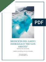 AGUA POTABLE. MEDICION DE CAUDAL.docx