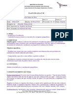 Plano de Aula Unila MODELO de Aula Pedagogia Historico-critica- Estágio I