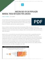 Pesquisa Da Nielsen Mostra Que 45 Porcento Da Populacao Mundial Troca Refeicoes Por Lanches.print