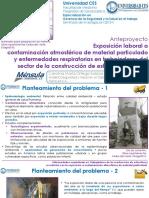 Exposición laboral a  contaminación atmosférica de material particulado y enfermedades respiratorias en trabajadores del sector de la construcción de estructura en 2016